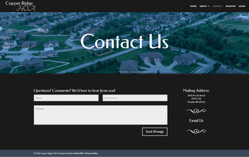HOA Membership Site