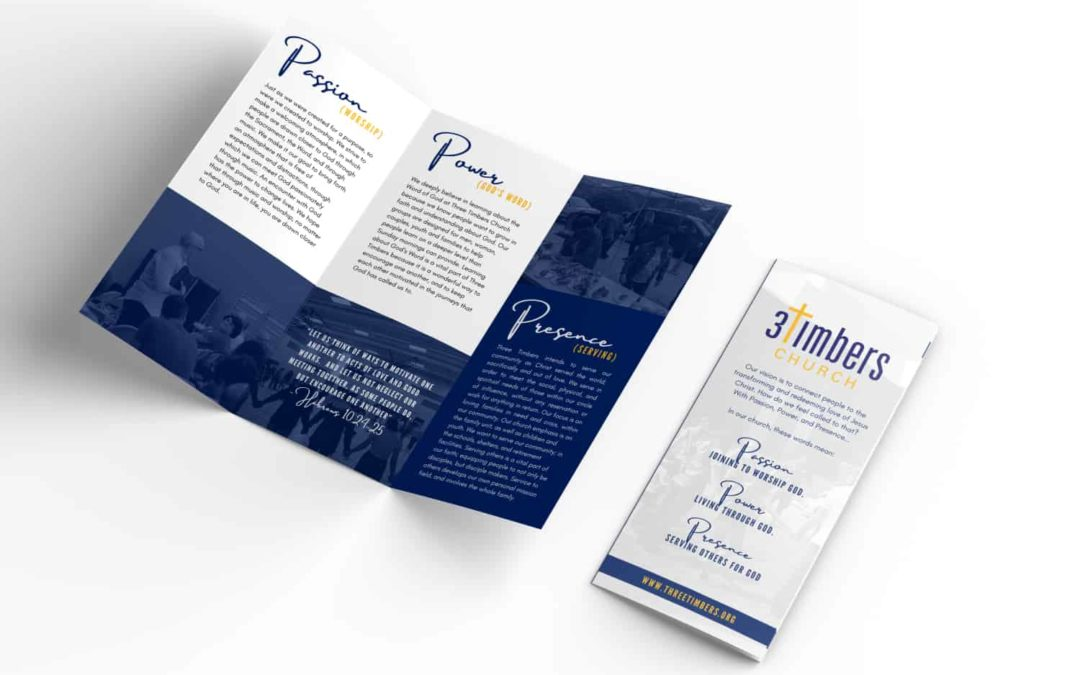 Brochure for Three Timbers Church